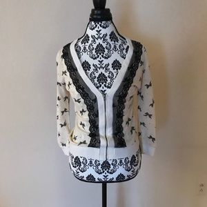 Tops - Lace and bow cardigan